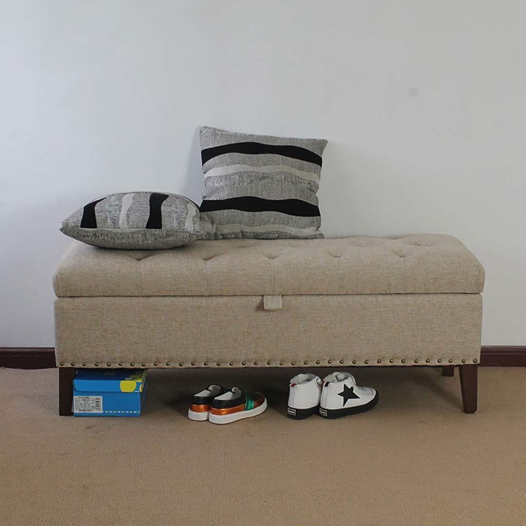 BBG Eingang multifunktional für zu Hause Schuhbank, ändern Schuhbank Sofa Hocker Bettendhocker Schuhgeschäft Test Schuhbank Langhocker Aufbewahrungshocker für Bekleidungsgeschäft,EIN,90 × 40 × 45 CM