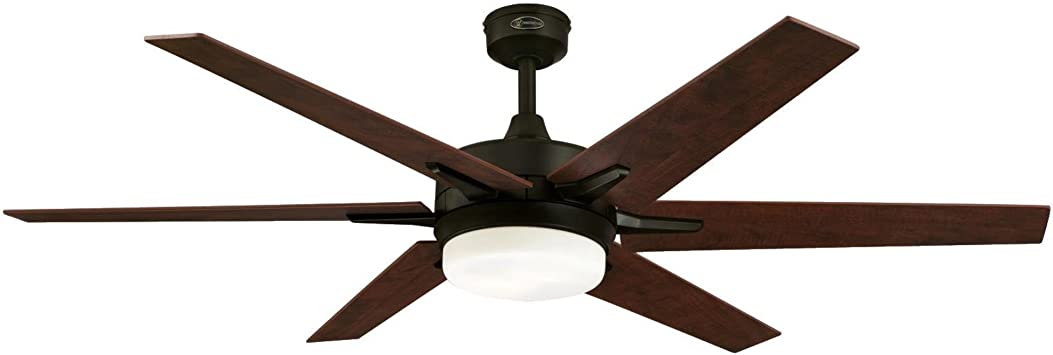 Westinghouse Lighting Oil Rubbed Bronze, Remote Control Included 7207800 Cayuga 60-inch Indoor Ceiling Fan
