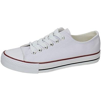 ZAPATOP XB2054-1 Bambas Lona Blancas Hombre Zapatillas Blanco 40: Amazon.es: Zapatos y complementos