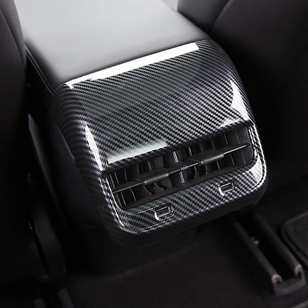 Praktische und unverformbare Kohlefaserausf/ührung Hintere Entl/üftungsabdeckung f/ür Tesla Model 3 Aus ABS-Kunststoff