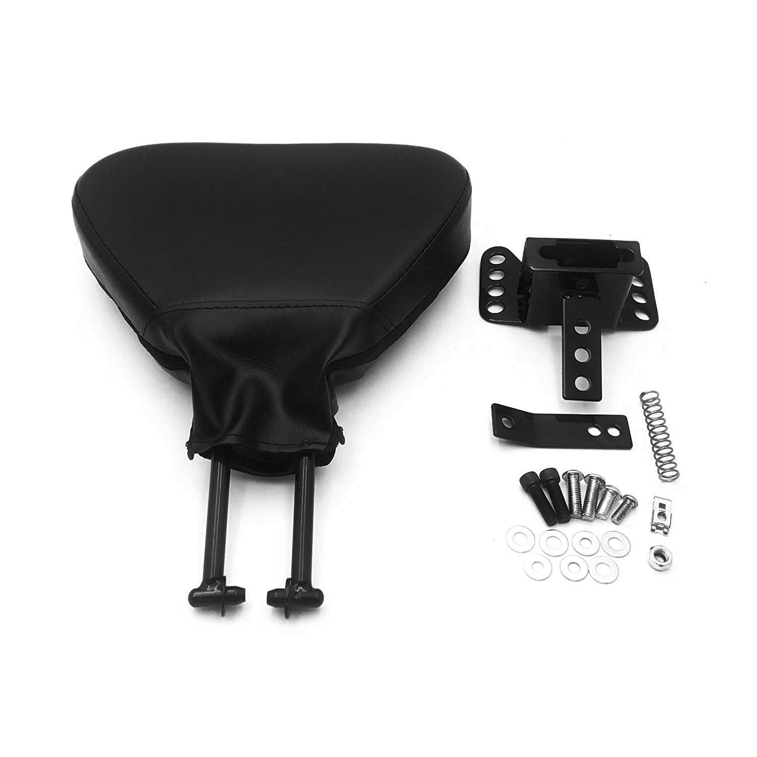 HTTMT MT501-005-03-S Motorcycle Gloss Black Sissy Bar Backrest Pad Mount Kit w//Skull Plate Compatible with 09-17 Harley Touring