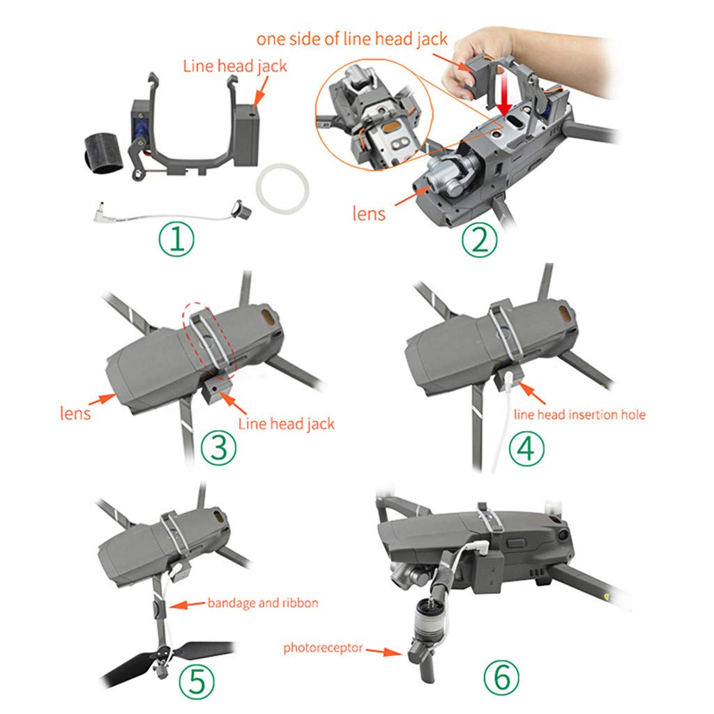 Sixcup Payload Delivery Thrower Air Dropper Ger/ät f/ür DJI Mavic 2 PRO//Zoom Drone