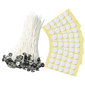 100 Pieces Candle Wicks,Yueser Waxed Wicks Core for Candle Making DIY 120mm Long