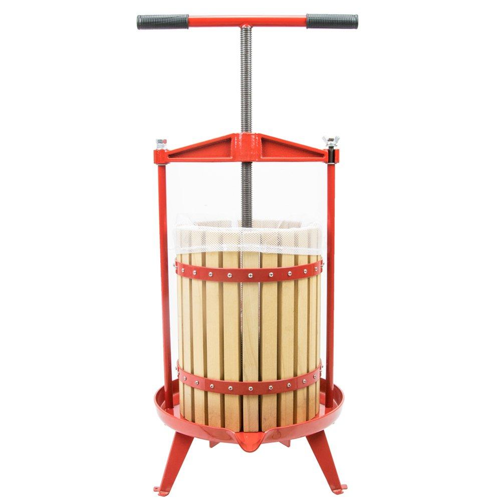 CDM product 4.75 Gallon Fruit Wine Press, Heavy-Duty Cross-Beam Hardwood Cider Press big image