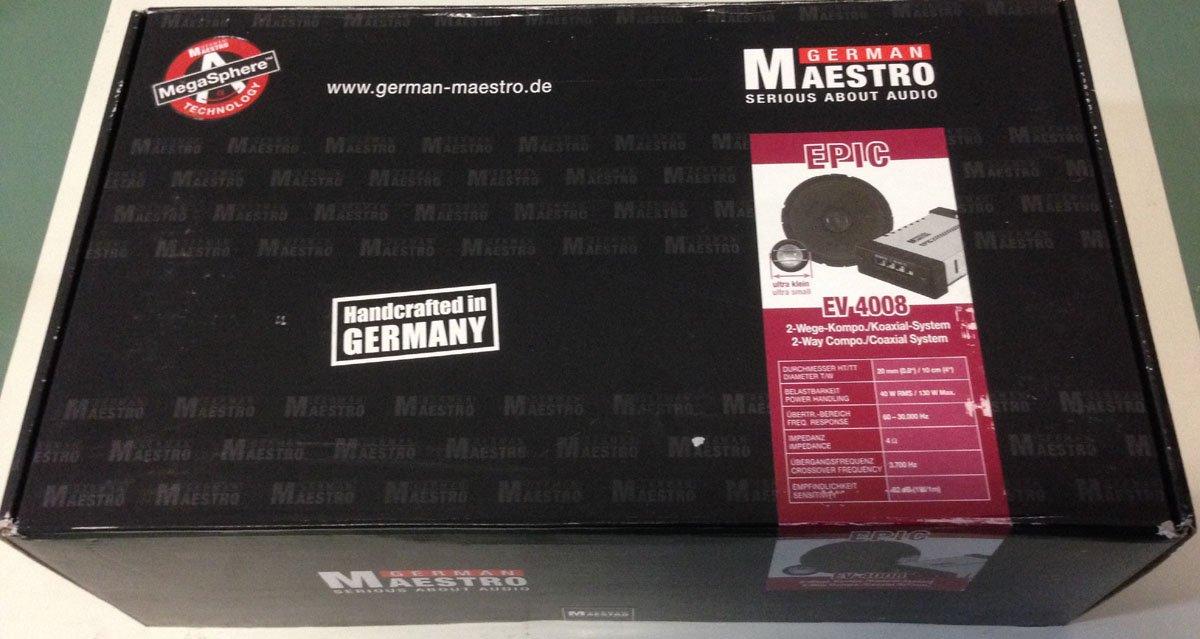 German Maestro EV 4008 2-Wege Kompo EV4008: Amazon.de: Elektronik