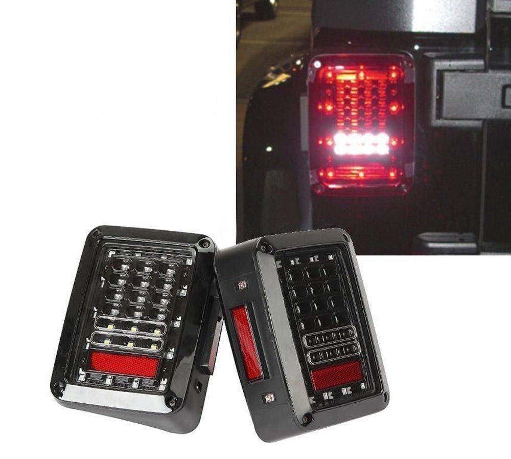 LED Tail Lights for 2007-2017 Jeep Wrangler Tail Lamp Brake Reverse Light Rear Back Up Turn Singal Lamp Daytime Running Lights DRL SUNPIE 4654135