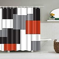 Deals on Boyouth 70-in x 70-in Geometry Pattern Digital Print Shower Curtain