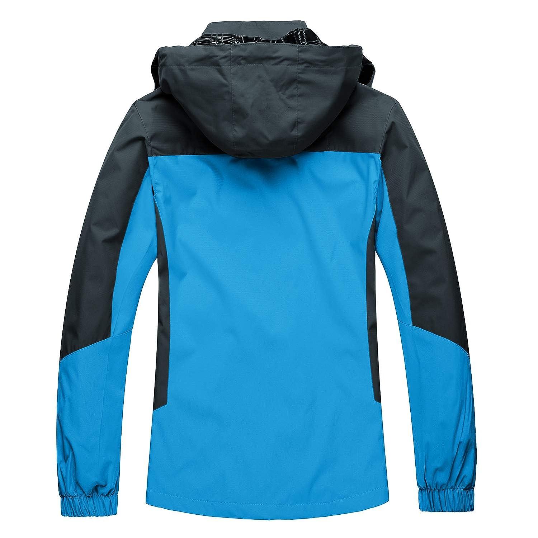 BIYLACLESEN Waterproof Jacket Womens Outdoor Lightweight Softshell Hiking Rain Jackets