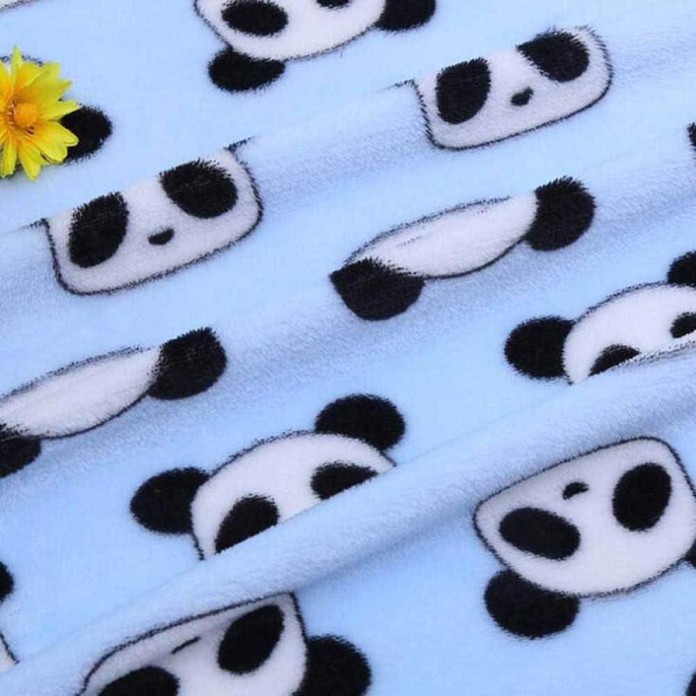 Zzyx Mascotas Manta para Perros Cachorro Colchoneta para Dormir Camas para Perros pequeños Toalla de baño de Invierno Doble cálida Manta Suave para Perros y Gatos-Panda Azul_Metro