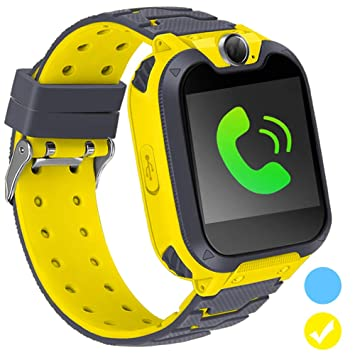 Kids Smart Watch for Kids SmartWatch with 1.54 Inch IPX5 Waterproof Color HD Display Touch Screen Digital Camera Game Music Learning Toys Call Watch ...