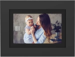 "PhotoShare Friends and Family Smart Frame 10.1"" Digital Photo Frame, Send Pics from Phone to Frame, Wi-Fi, 8 GB, Holds Over 5,000 Photos, HD, 1080P, Black/White Mattes, iOS, Android"