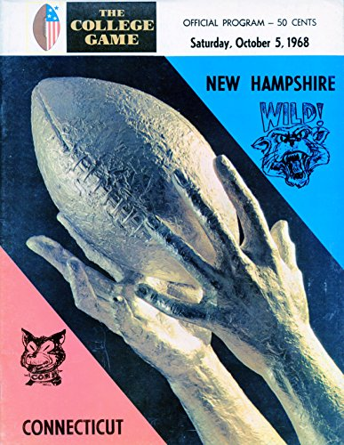 October 5, 1968 - New Hampshire University Wildcats vs UCONN Huskies College Football Program ()