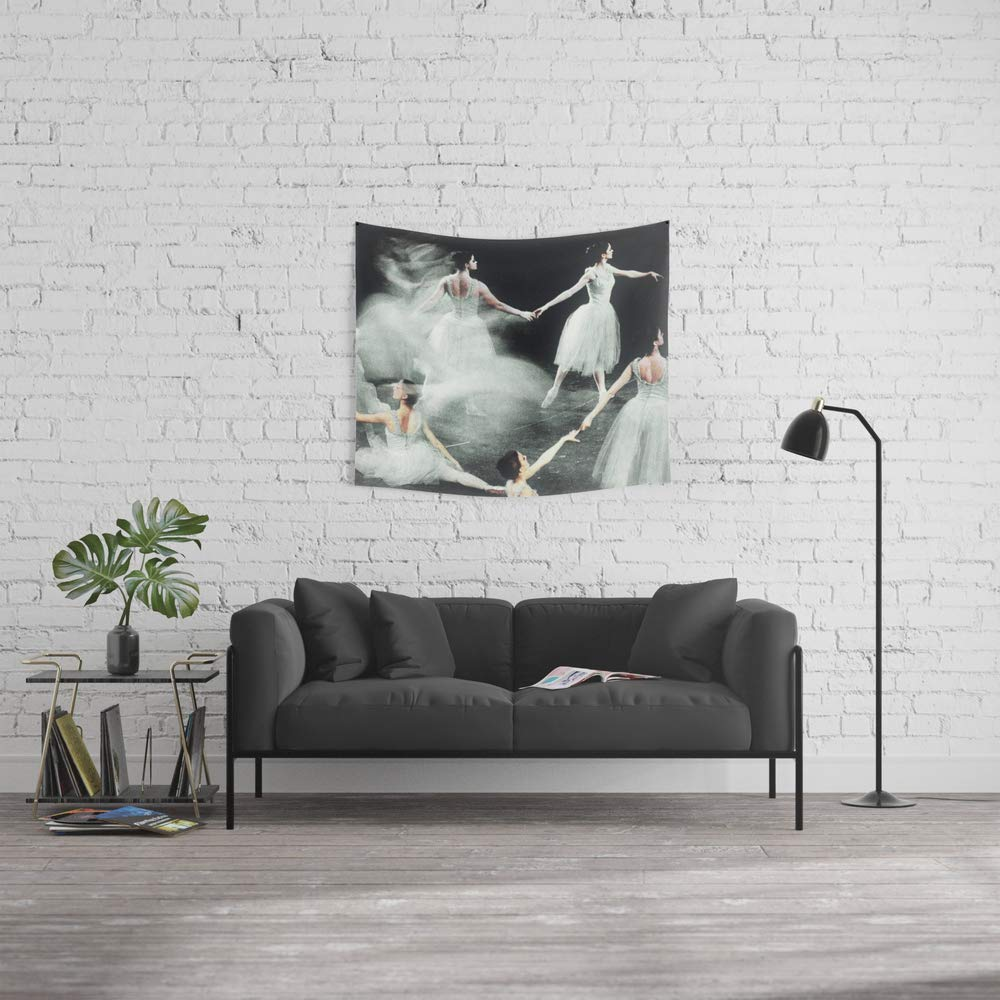 Society6 Wall Tapestry, Size Small: 51'' x 60'', Ghost Dance, Vintage Ballet by retrogeneration