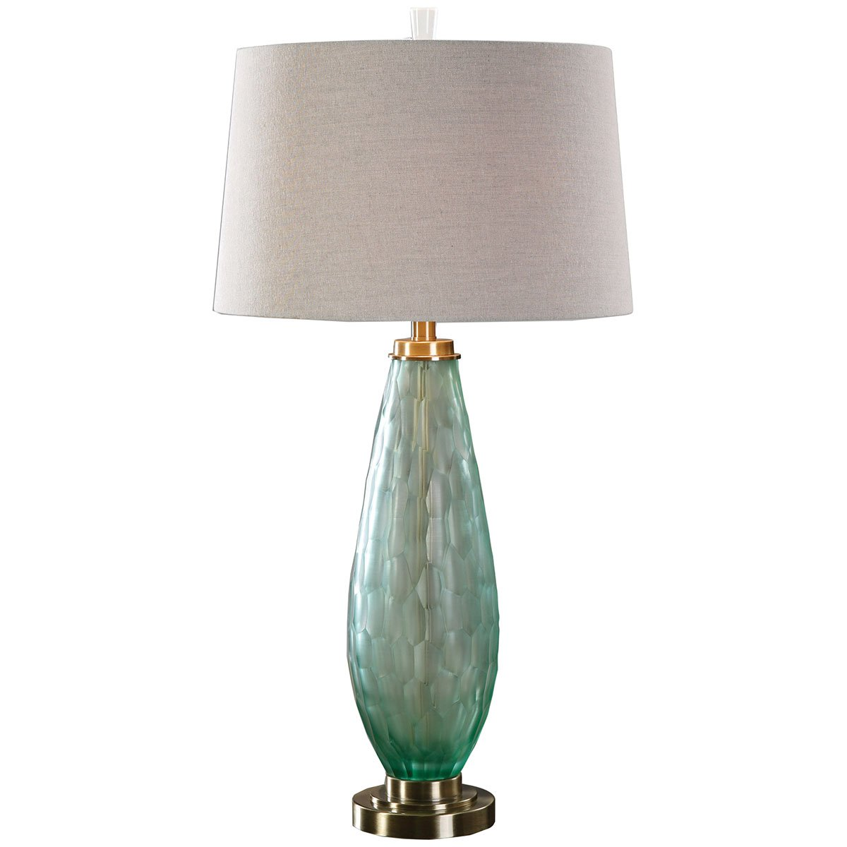 Amazon.com: Uttermost 27003 Lenado Glass Table Lamp, Sea Green ...