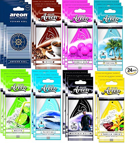 - AREON Assorted Air Freshener Classic Scents (24 Pack)