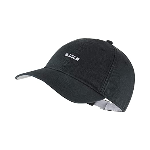 593443edce7cb Nike Men`s Lebron Heritage 86 QS Adjustable Basketball Hat (Black(AA8131-