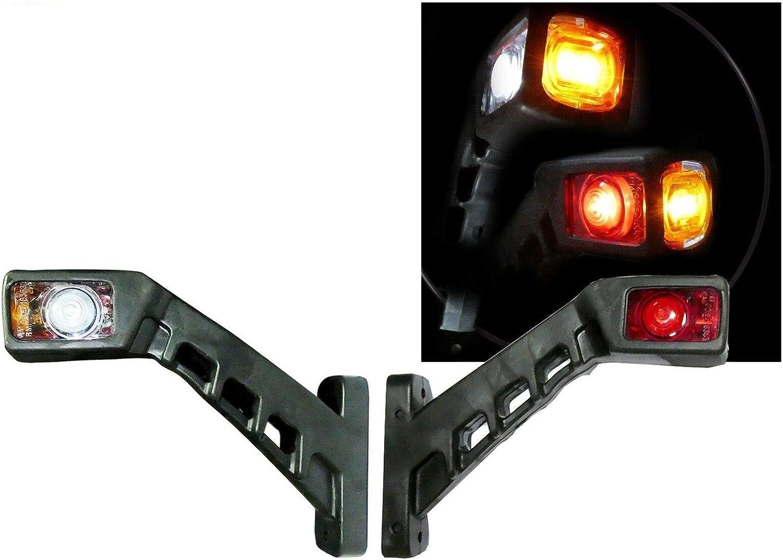 A1 2x Led Umrissleuchte Positionsleuchte Begrenzungsleuchten Markierungsleuchte Für Lkw Und Anhänger Leuchten SchrÄg Seitenmarkierungsleuchten 12v 24v Auto