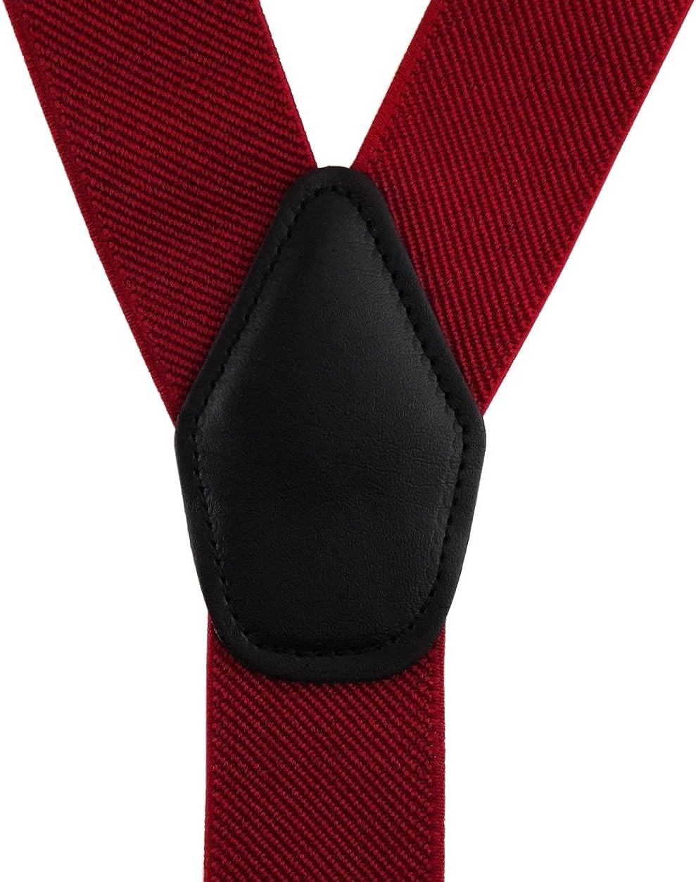 de alta calidad longitud ajustable el/ástico TigerTie hombres estrechas tirantes con 3 clips en forma de Y