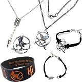 Hunger Games. 6 piezas de este conjunto de regalos. Mockingjay collar, las pulseras, Flechas y Broche en la caja de regalo
