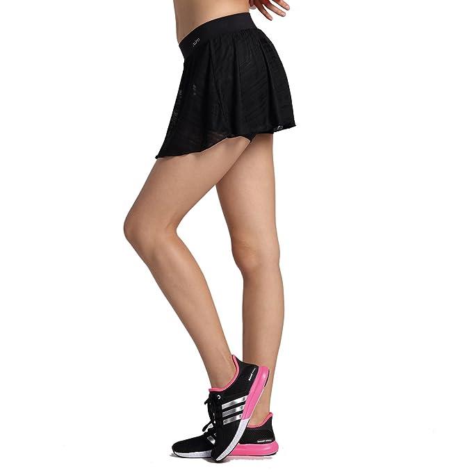 Amazon.com: melory Juego con falda de rayas con bolsillos ...
