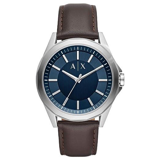 Armani Exchange Reloj Analógico para Hombre de Cuarzo con Correa en Cuero AX2622: Amazon.es: Relojes