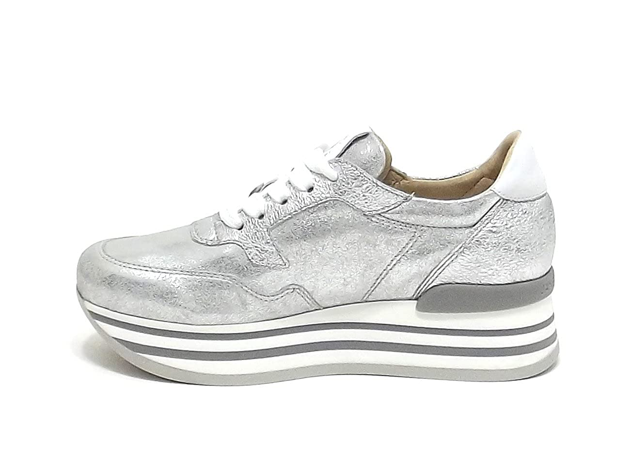 Janet Sport Sport Sport Donna, Articolo 41725, scarpe da ginnastica Pelle, argentoo E8102 47d9c6