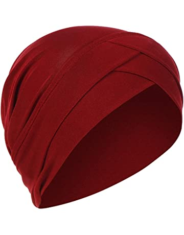 1c80477ca64170 Yezijin Women Beading India Hat Muslim Ruffle Cancer Chemo Beanie Scarf  Turban Wrap Cap