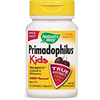 Nature's Way Primadophilus for Kids, Cherry, 30 Count (3 Units)