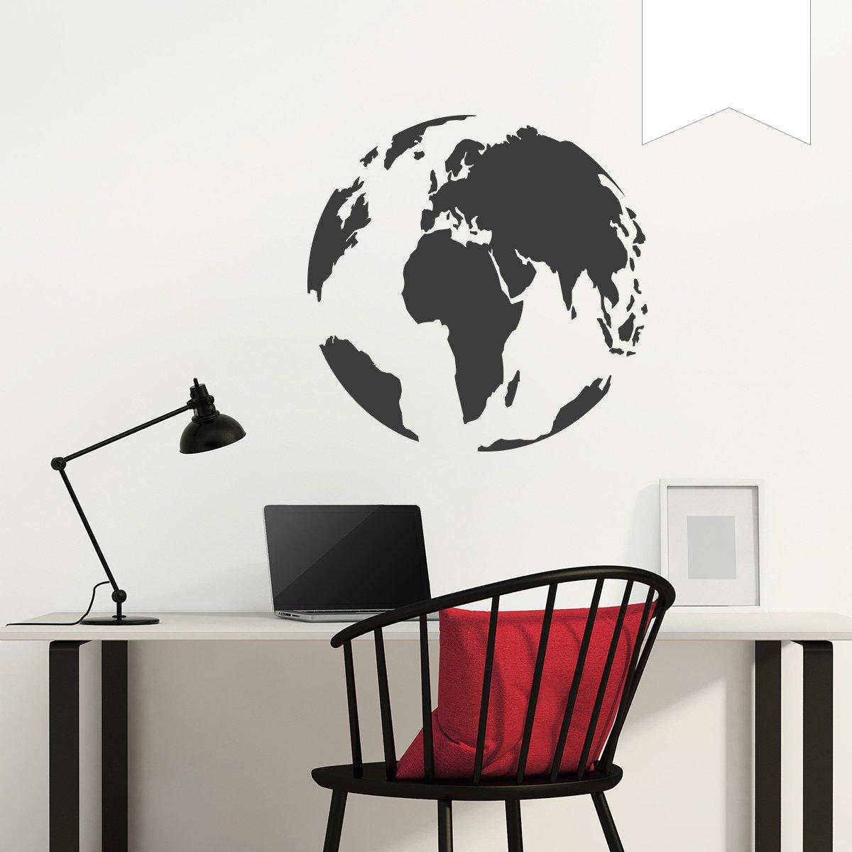 WANDKINGS Wandtattoo - Globus - 90 90 90 x 90 cm - Kupfer - Wähle aus 5 Größen & 35 Farben B078YD6L4R Wandtattoos & Wandbilder 862a4a