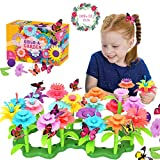 Conleke Flower Garden Building Toys for Kids Toddlers, Creative DIY Build a Bouquet Sets - Ideal Christmas Birthday Gifts for 4, 5, 6, 7, 8 Year Old Girls (109+12 PCS)