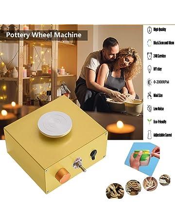KKTECT Elektrische T/öpferscheibe Kinder DIY Keramikformwerkzeug Mini Pottery Machine Electric 6,5 cm 10 cm Plattenspieler f/ür Keramikarbeiten Keramik Clay Art Craft