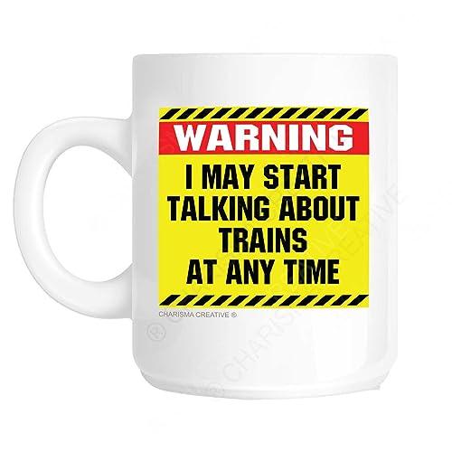 warning i may start talking about trains at any time novelty fun mug ideal fathers