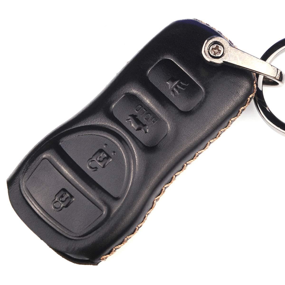 Cadtealir absortive Baby Calfskin Infiniti fx35 fx45 g35 i35 qx56 qx4 Nissan 350z Armada Altima Frontier Maxima Murano NV nv200 Pathfinder Quest Sentra Titan Versa Xterra Key Fob Cover case Holder