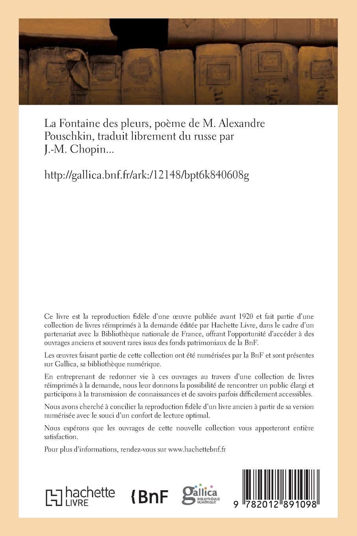 La Fontaine Des Pleurs Poème De M Alexandre Pouschkin