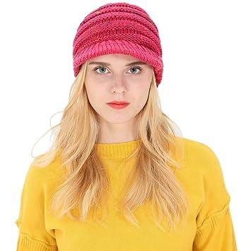 Mujer Hombre Otoño Invierno Beanie Hat Tejer lana Gorra de béisbol Orejeras  Sombrero a979515af09