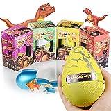 Xosoy 4.72''3.15'' Super Huge Lifelike Dinosaur Egg Novelty Magic Hatching Growing Dinosaur Toys | Dinosaur Eggs With Big Dinosaur Toy Figures Inside Hatching Toy For Kid | Funny Kids Toys