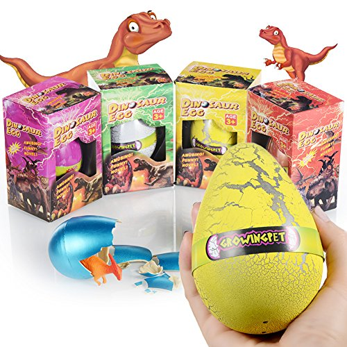 Xosoy Dinosaur Toys, Giant Hatching Dinosaur Egg with Big Dinosaur Toy Inside, Dinosaur Party Favors, Best Dinosaur Toys for 3 Years Old - 8 Years Old Children( Random Color) -