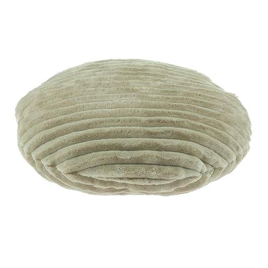 Funda de Cojín de Asiento Cubierta de Silla Forma de Redonda para Protección Muebles 40 cm - Camello
