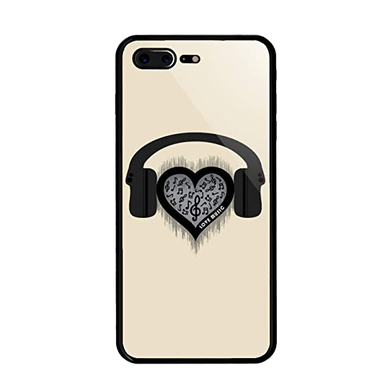 check out bd8e4 576d5 Amazon.com: iPhone 7 Plus/iPhone 8 Plus Case, Love Music Rhythm ...