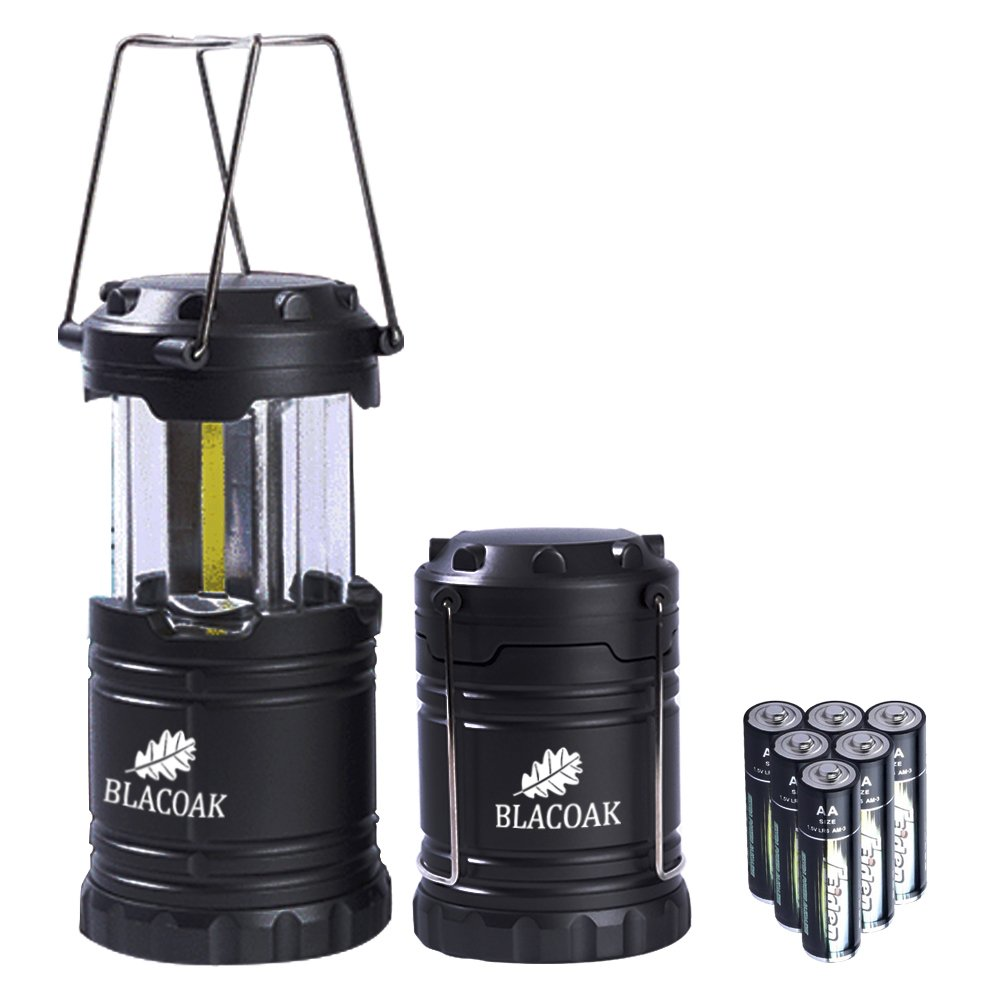 Blacoak 2 x Blacoak Super Brightness Camping Lamp , 300LM Collapsible Camping Light, Small Size Outdoor LED Light Latern Lamp