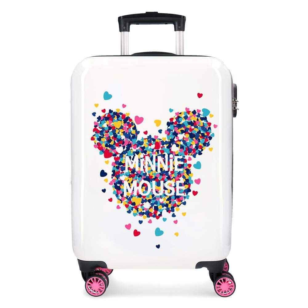 Maleta de cabina Minnie Magic corazones rígida 55cm
