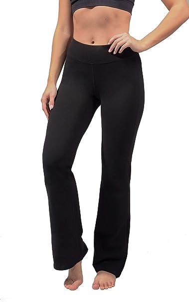 Amazon.com: Reflex 90 Degree - Pantalones de yoga de algodón ...