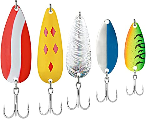1pc Colorful Trout Spoon Metal Fishing Lures Spinner Tackle B5K5 B Bass New Z2O3