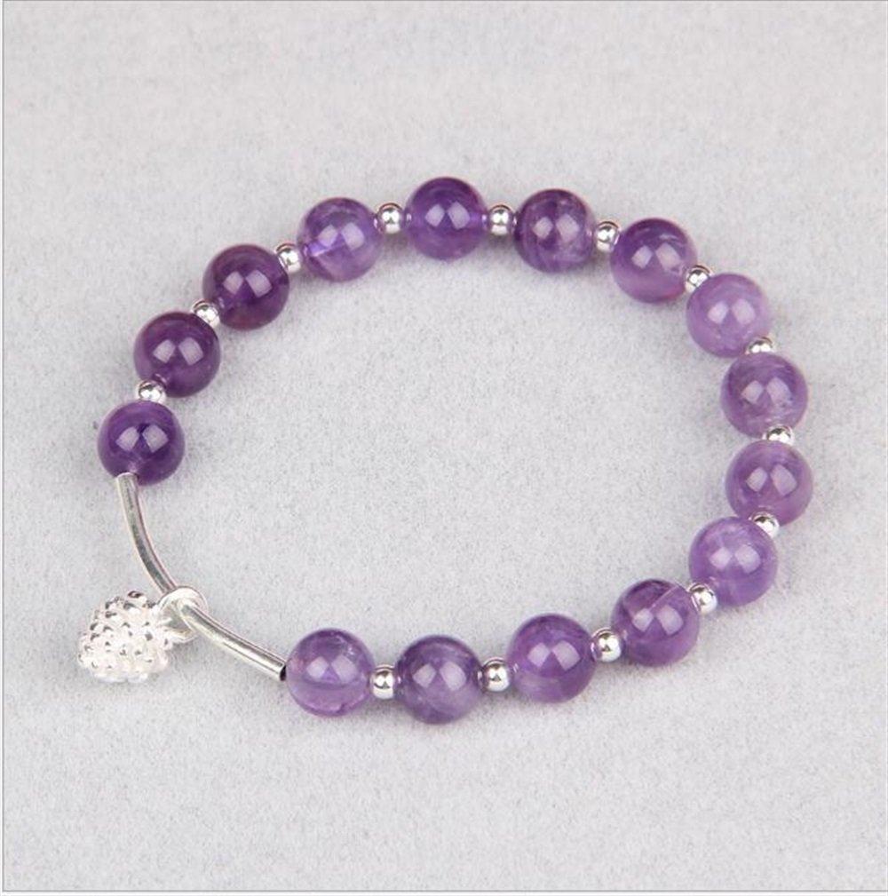 Yudanwin Necklace Beading Accessories DIY Handmade Alloy Pine Nuts Beaded Bracelet(Purple)
