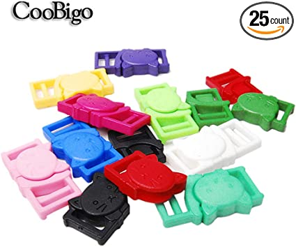 Webbing Colorful Plastic Slider Tri-Glide Adjust Buckles for Cat Dog Collar Backpack Straps FLC096 Mix-s 10.5mm 50pcs 3//8