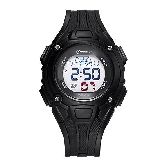 Impermeable reloj deportivo/Hora reloj digital/ reloj digital chicas-A: Amazon.es: Relojes