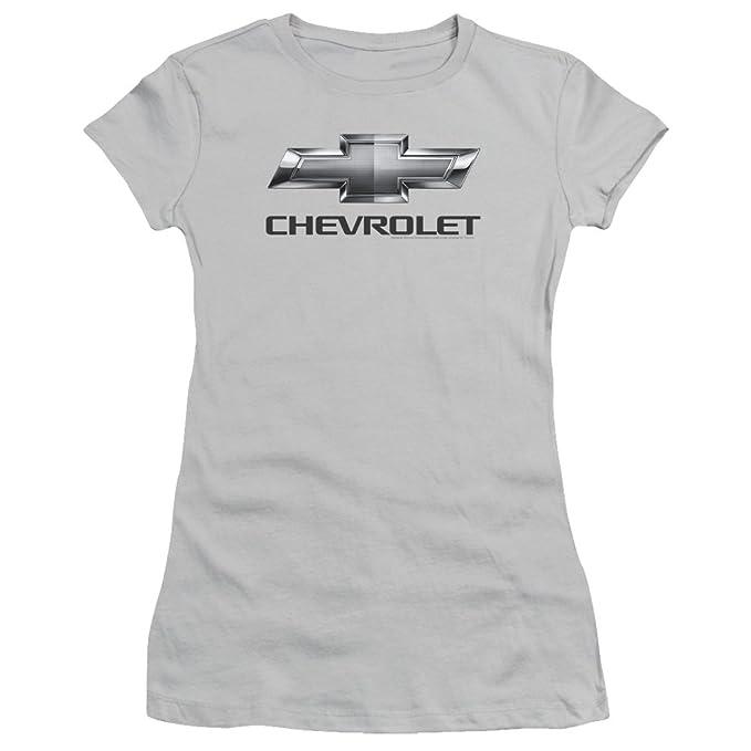 Amazon Com Chevrolet Autos Chevy Classic Bowtie Logo On Silver