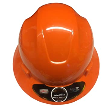 Orange Safety hard hat cool Air Flow