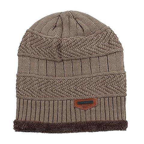 GITVIENAR Beanie Hat,Men's/Women's Winter Wool Knit Beanie Hat Baggy Slouchy Crochet Skull Ski Caps - 20101 Cap