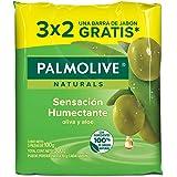 Jabón de Tocador Palmolive Naturals Aloe y Oliva en Barra, 100 g, 3 Piezas
